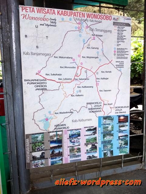 peta wisata wonosobo